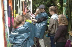 Graffity Aktion Holzhaus
